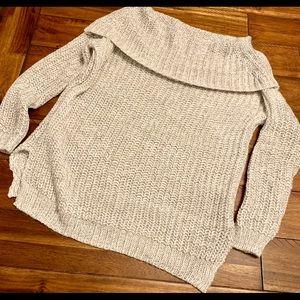 Off Shoulder Grey Sweater Size Medium